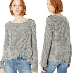 Roxy Free Thinking sweater w buttons bell sleeves